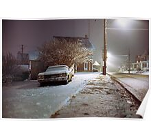 Snowy Evening Poster