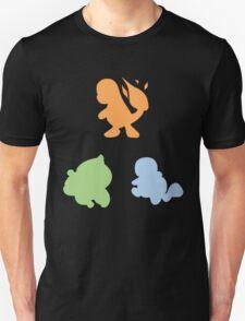 Kanto Starters - Silhouette T-Shirt
