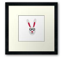 Rabbit with glasses Framed Print