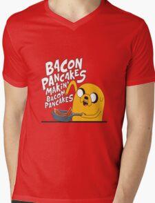 Bacon pancake Mens V-Neck T-Shirt