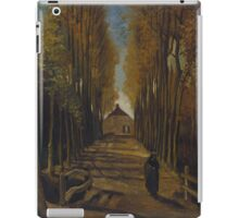 Vincent Van Gogh - Avenue of poplars in autumn, 1884 iPad Case/Skin