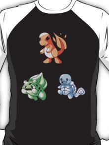Kanto Starters - Retro T-Shirt