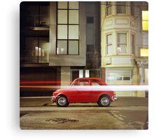 Little Red Car Metal Print