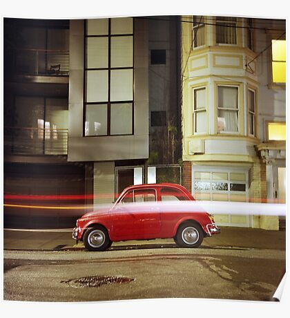 Little Red Car Poster