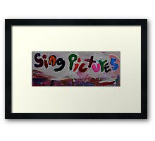 sing pictures Framed Print