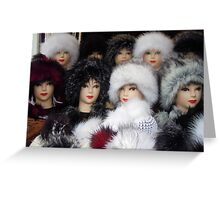 Cold faces Greeting Card