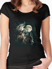 Three wolf moon Women's Fitted Scoop T-Shirt