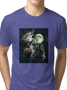 Three wolf moon Tri-blend T-Shirt