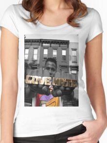 Radio Raheem - Love & Hate  Women's Fitted Scoop T-Shirt