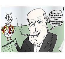 Balding FDR Thanksgiving webcomic Poster