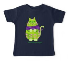 Cute Grumpy cat with text Baby Tee