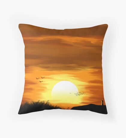 Countryside Sunset Throw Pillow