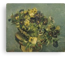 Van Gogh  - Basket of pansies Canvas Print