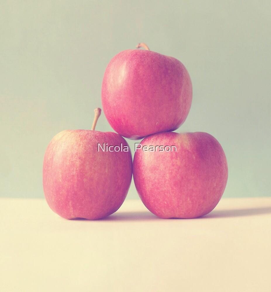 Apple Trio  by Nicola  Pearson