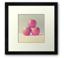 Apple Trio  Framed Print