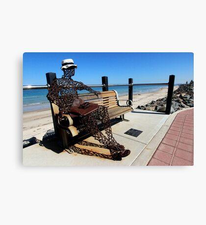 Scrap Iron Sculpture, Beachfront, Adelaide Canvas Print