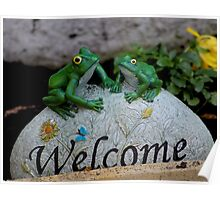 Greeting Frogs Poster