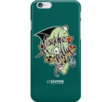 Psychobilly scolled iPhone Case/Skin