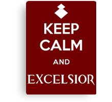Keep Calm and Excelsior Canvas Print