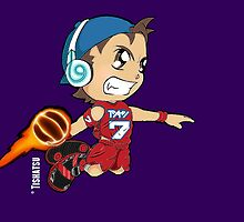 Basketball Power Shot, Sports, ball, NBA, jam, dunk, slam, hoop by TishatsuDesigns