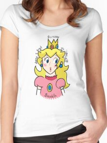 Princess Biaatch... Women's Fitted Scoop T-Shirt