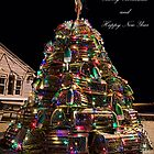 Lobster Trap Christmas Card by Richard Bean