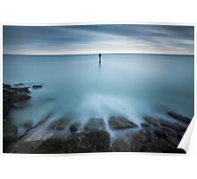 Time to reflect...7 minute exposure on Eastbourne seafront Poster