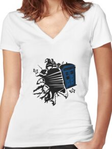 Doctor Who T-Shirts & Hoodies Women's Fitted V-Neck T-Shirt