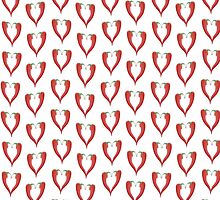 Red Chili pepper love hearts by stuwdamdorp