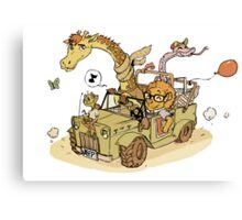 Jungle Jeep Canvas Print