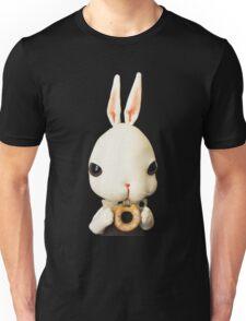 Mr. Bunny loves donut Unisex T-Shirt