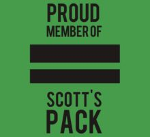 PROUD MEMBER OF SCOTT'S PACK Kids Clothes