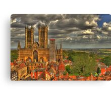 Lincoln Cathedral HDR Canvas Print