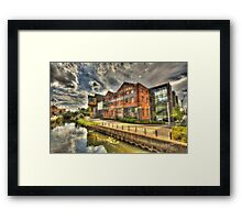 University of Lincoln Library HDR Framed Print
