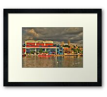 Lincoln from the Brayford HDR Framed Print