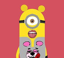 Miley cyrus minion - red by theonlynonam