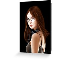 Dr Who's Amy Pond Greeting Card