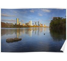 Austin Images - The Austin Skyline on a Autumn Day from Zilker Park 1 Poster