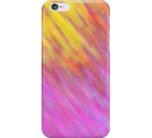 Glittery Sunburst - Pink and Yellow iPhone Case/Skin