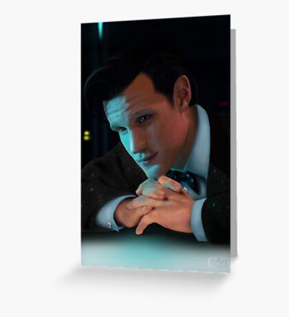 Dr Who Matt Smith Greeting Card