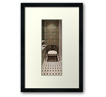 Armchair smoking room Framed Print