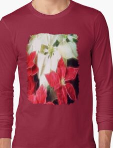 Mixed Color Poinsettias 2 Angelic Long Sleeve T-Shirt