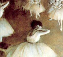 Edgar Degas - Rehearsal on the Stage Sticker