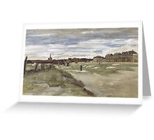 Vincent Van Gogh  - Bleachery at Scheveningen, 1882 Greeting Card