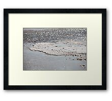 dry sea salt  Framed Print