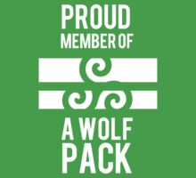 PROUD MEMBER OF A WOLF'S PACK Kids Clothes