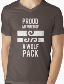 PROUD MEMBER OF A WOLF'S PACK Mens V-Neck T-Shirt