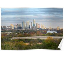 Austin Texas Images - The Austin Skyline from the Zilker Clubhouse in Late November Poster