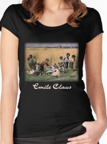 Emile Claus - On the Way to School Women's Fitted Scoop T-Shirt
