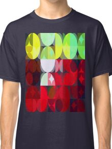 Mixed Color Poinsettias 2 Abstract Circles 3 Classic T-Shirt